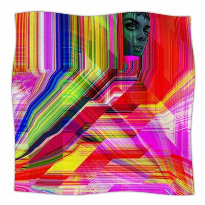 Roberlan Mechancholya Abstract Pop Art Fleece Throw Size: 50 W x 60 L