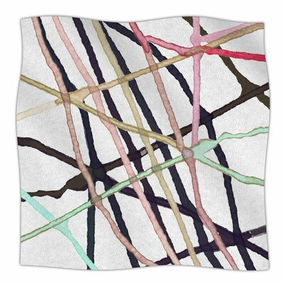 Patternmuse Lovegle Watercolor Fleece Throw Size: 50 W x 60 L