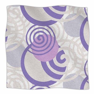Patternmuse Dynamic Swirls Digital Fleece Throw Size: 60 W x 80 L
