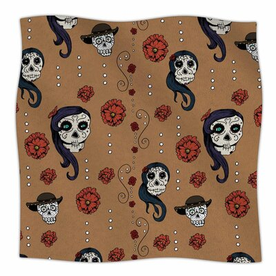 Stephanie Vaeth Calaveras Fleece Throw Size: 60 W x 80 L