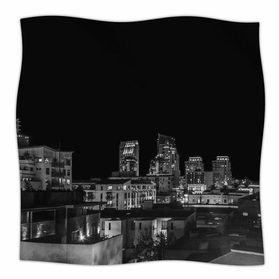 Nick Nareshni Cityscape Nights Photography Fleece Throw Size: 60 W x 80 L