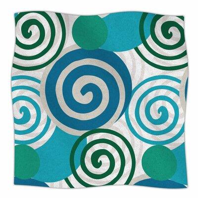 Patternmuse Dynamic Swirls Digital Fleece Throw Size: 50 W x 60 L