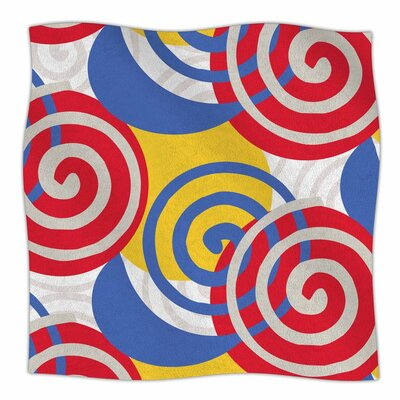 Patternmuse Dynamic Swirls Multi Digital Fleece Throw Size: 60 W x 80 L
