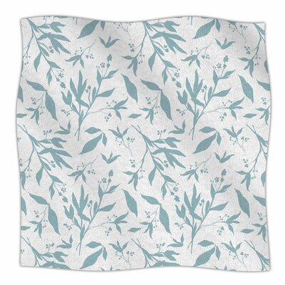 Zara Martina Leafy Silhouettes Painting Fleece Throw Size: 60 W x 80 L
