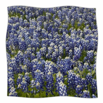 Susan Sanders Flower Fields Photography Fleece Throw Size: 60 W x 80 L