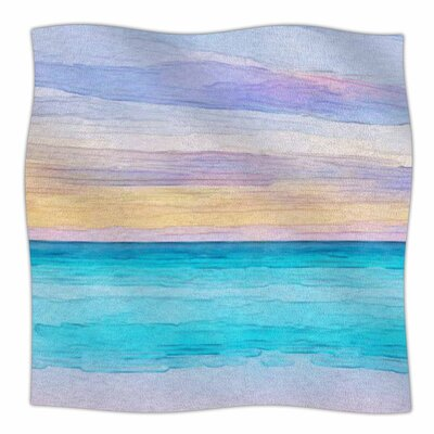 Oriana Cordero Las Terrenas Fleece Throw Size: 60 W x 80 L