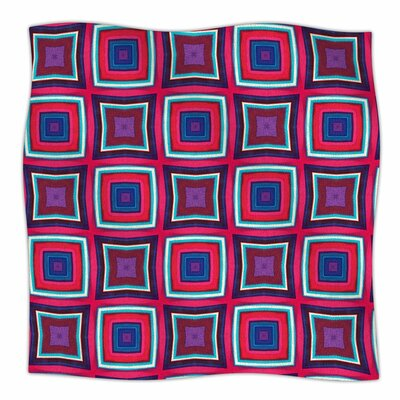 Miranda Mol Watercolor Blocks Checker Fleece Throw Size: 60 W x 80 L