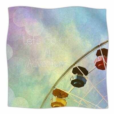 Sylvia Coomes Lets Go on an Adventure Photography Fleece Throw Size: 60 W x 80 L