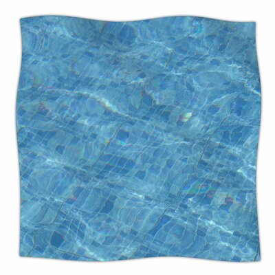 Susan Sanders Calm Pool Water Photography Fleece Throw Size: 50 W x 60 L