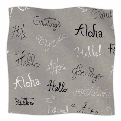 Stephanie Vaeth Hellos and Goodbyes Fleece Throw Size: 50 W x 60 L