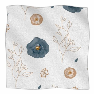 Li Zamperini Collection Deli Watercolor Fleece Throw Size: 50 W x 60 L