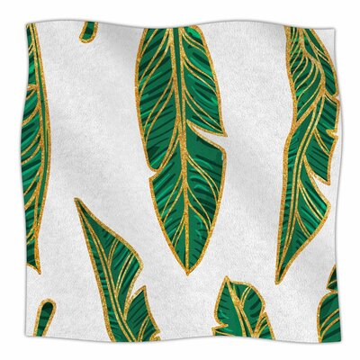 83 Oranges Banana Leaf Digital Fleece Throw Size: 50 W x 60 L
