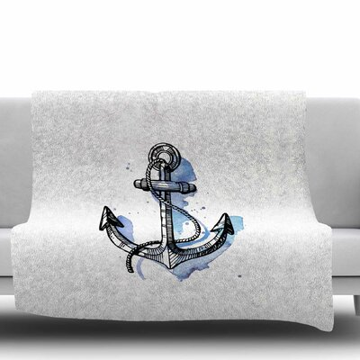 Anchor Watercolor Fleece Blanket Size: 60 W x 80 L