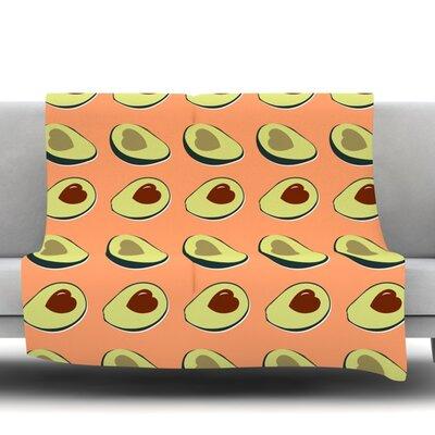 Avacado Love Fleece Blanket Size: 50 W x 60 L