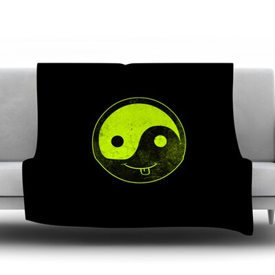 Bad Ying Yang by Frederic Levy Hadida Fleece Blanket Size: 50 W x 60 L