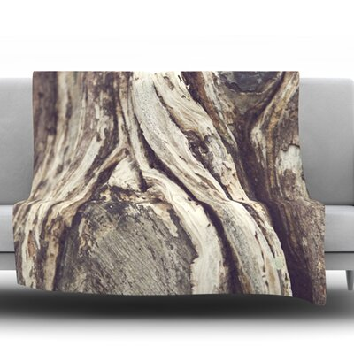 Bark by Catherine McDonald Fleece Blanket Size: 60 W x 80 L