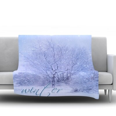 Winter Tree by Alison Coxon Fleece Blanket Size: 50 W x 60 L