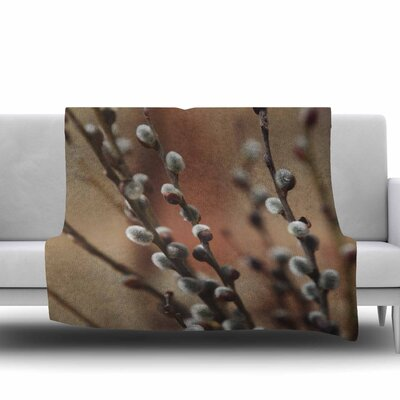 Willows by Angie Turner Fleece Blanket Size: 60 W x 80 L