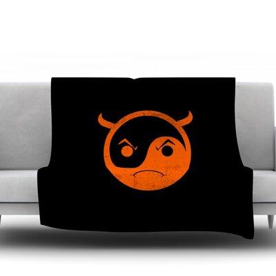 Yin Yang Diablo Frederic Levy Hadida Fleece Blanket Size: 60 W x 80 L