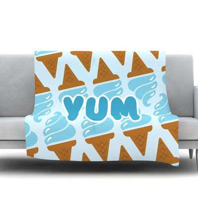 Yum! Fleece Blanket Size: 50 W x 60 L