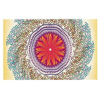 Famenxt Confetti Dots Mandala Abstract Doormat