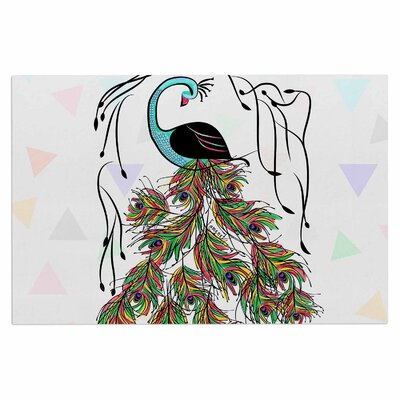 Famenxt Colorful Peacock Doormat