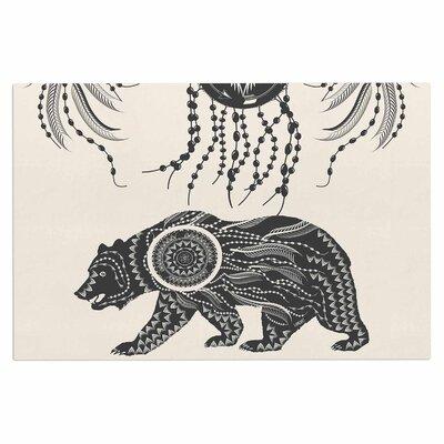 Famenxt Boho Ornate Bear Doormat