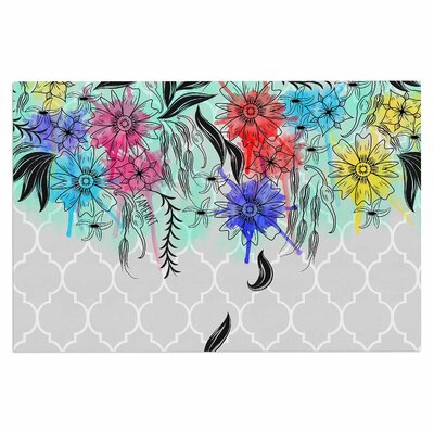 Famenxt Watercolor Spring Floral Doormat