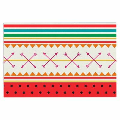 Famenxt Watermelon Arrows Colors Tags Doormat