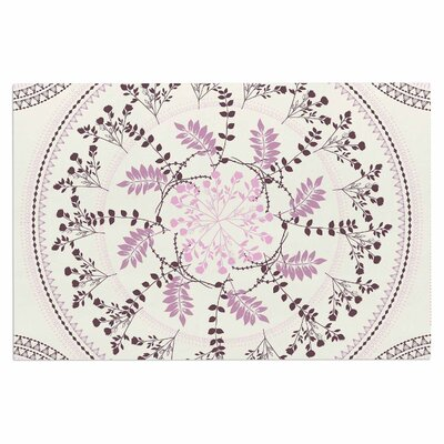 Famenxt Pinkish Madellion Abstract Doormat