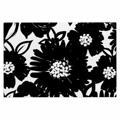 Emine Ortega Monochromatic Blooms Doormat