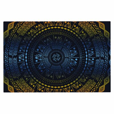 Famenxt Night Queen Boho Mandala Illustration Doormat