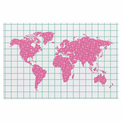 Famenxt Grid Map Digital Doormat