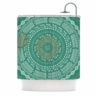 Famenxt Mint Medallion Shower Curtain