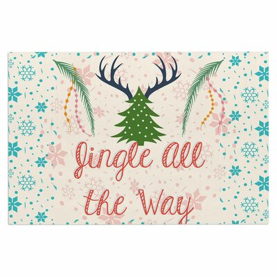 Famenxt Jingle All the Way Holiday Digital Doormat