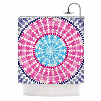 Famenxt Mandala Illustration Shower Curtain