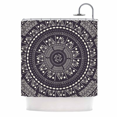 Famenxt Swadesi Boho Mandala Illustration Shower Curtain