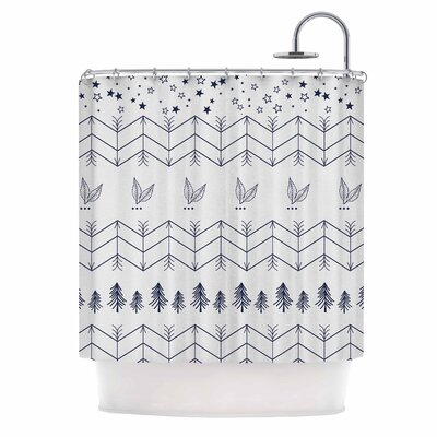 Famenxt Tribal Arrows Jungle Stars Shower Curtain