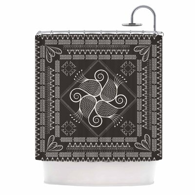 Famenxt Paisley Into the Dreams Dark Shower Curtain