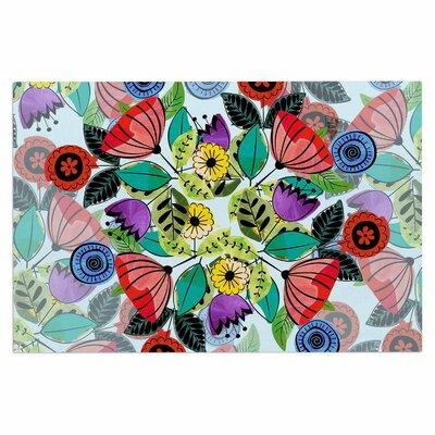 Famenxt Fresh Spring Flowers Floral Doormat