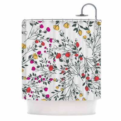 Famenxt Rose Blossom Garden Shower Curtain