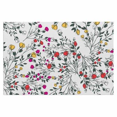 Famenxt Rose Blossom Garden Floral Doormat