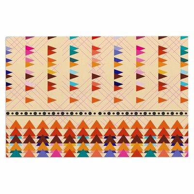 Famenxt Bohemian Triangle Pastel Illustration Doormat