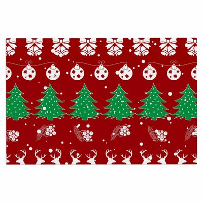 Famenxt Christmas Vibes Illustration Doormat