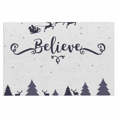 Famenxt Christmas Believe Illustration Doormat