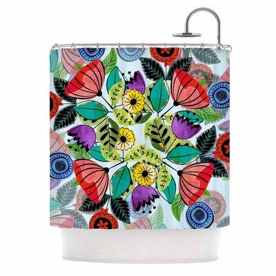 Famenxt Fresh Spring Flowers Shower Curtain