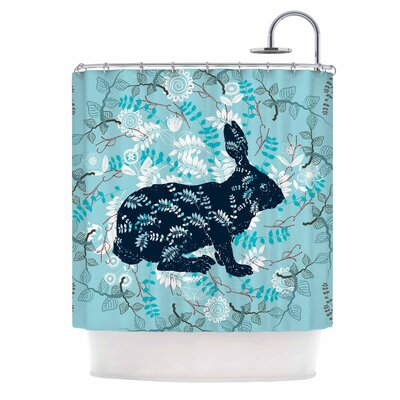 Famenxt Bunny in the Jungle Shower Curtain