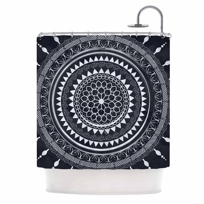 Famenxt Boho Aegean Mandala Shower Curtain