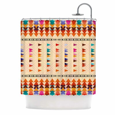 Famenxt Bohemian Triangle Illustration Shower Curtain