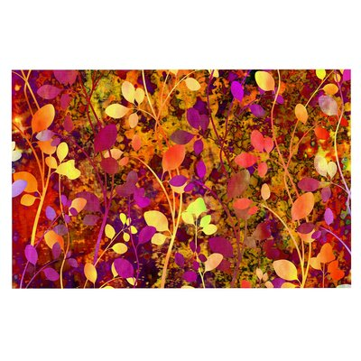 Ebi Emporium Amongst the Flowers Warm Sunset Doormat